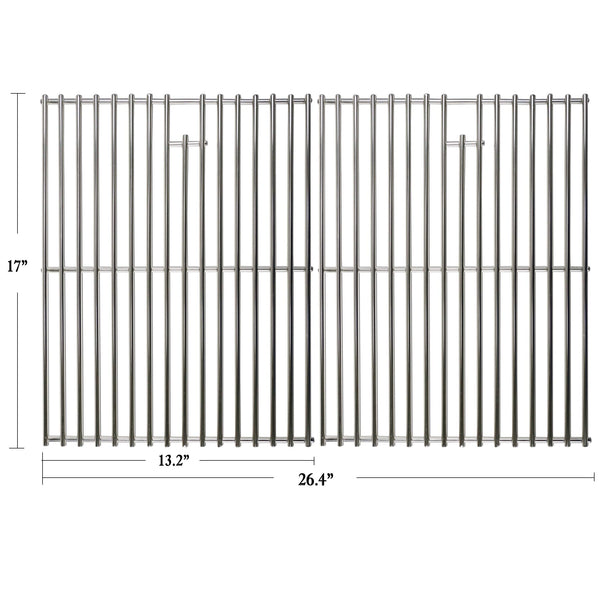 "Hisencn 17 inch Grill Cooking Grates Replacement Parts for Home Depot Nexgrill 720-0830H, 720-0830D, Nexgrill 720-0783E, 720-0783C, Kenmore, Uniflame Gas Grils, 17"" Stainless Steel Cooking Grids"