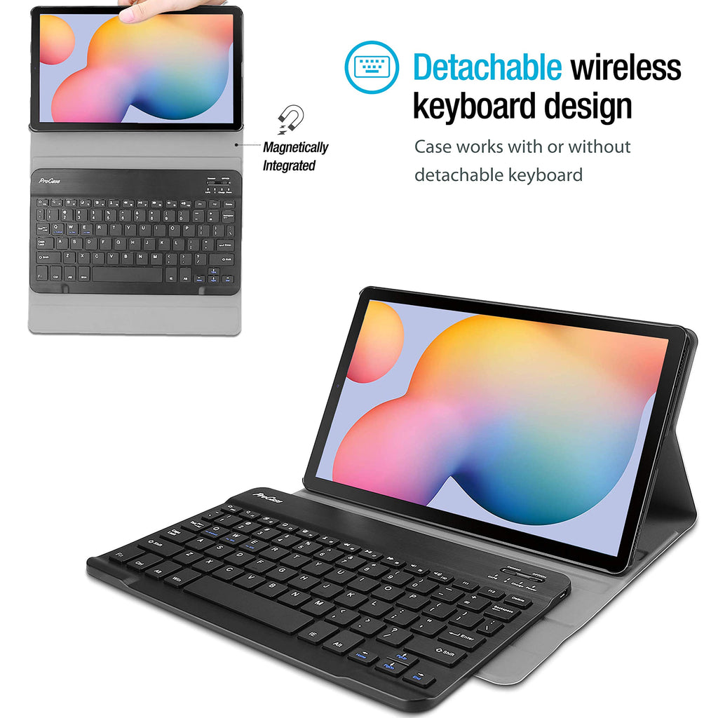 Jelly Comb Removable Wireless Keyboard Case US Layout with Protective Cover for Samsung Galaxy Tab S6 Lite P610//P615 Black Bluetooth Backlit Keyboard Case for Samsung Galaxy Tab S6 Lite 10.4 2020