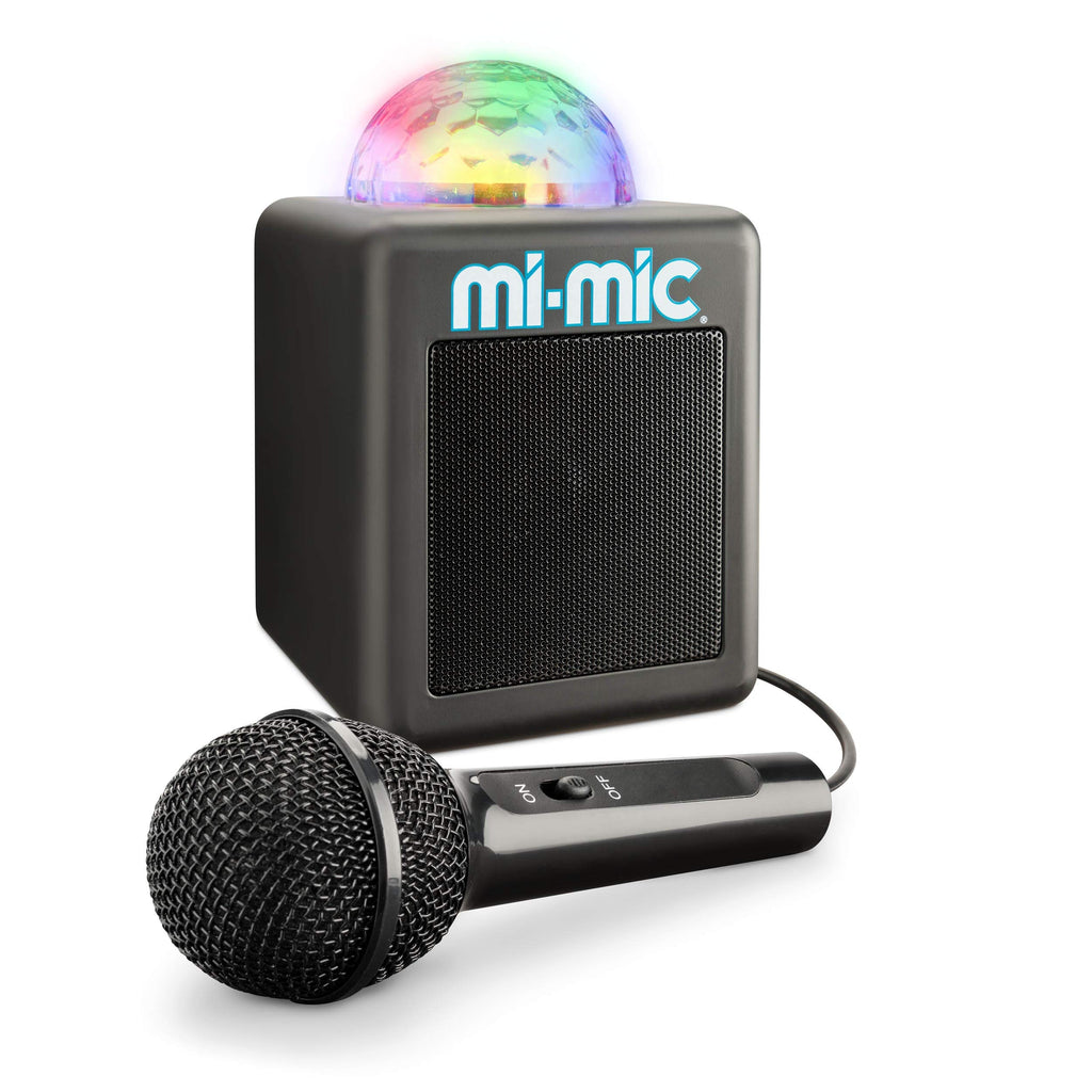 Mi-Mic TY6149 Mini, Kids Karaoke Machine and Disco Cube Speaker, Portable with Bluetooth, Microphone, LED Lights and Echo
