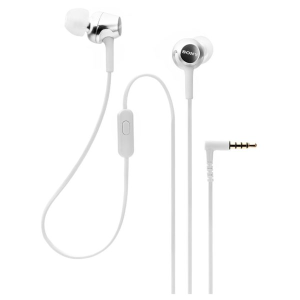 Sony In-Ear Headphones with Mic White MDREX155APW