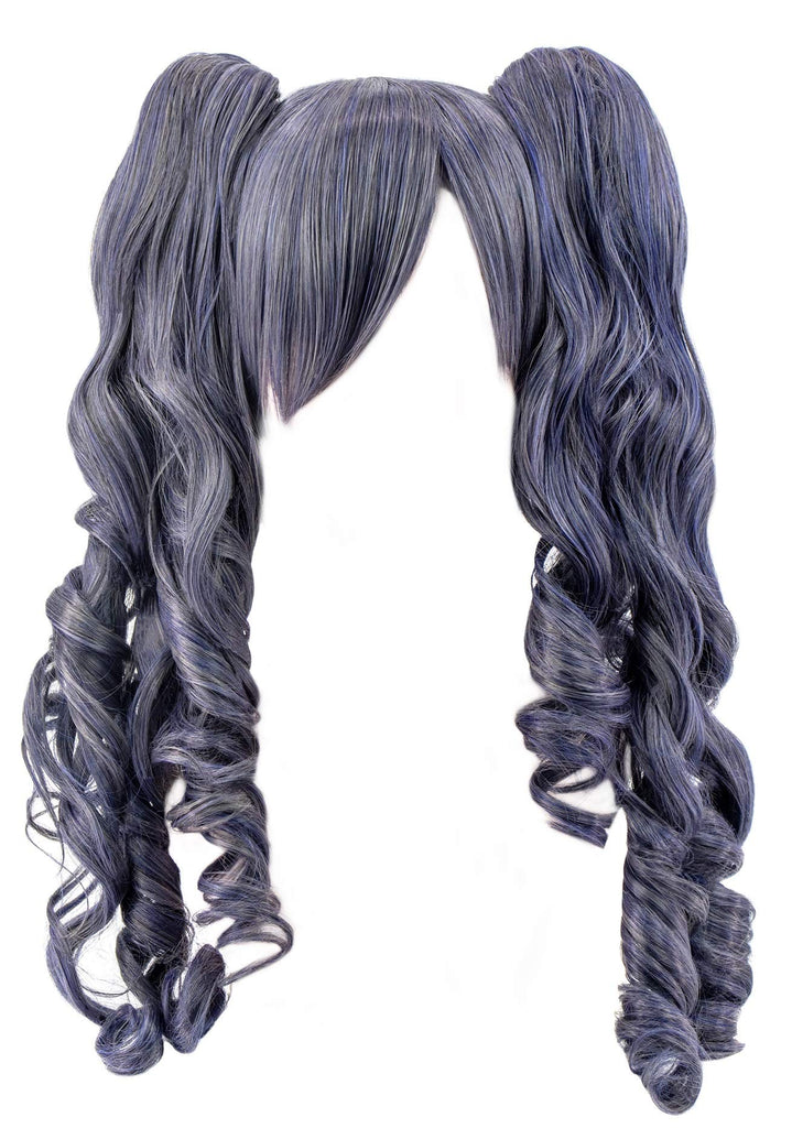 DAZCOS Kuroshitsuji Ciel Phantomhive Cosplay Wig Curly Long Hair Two Pigtails