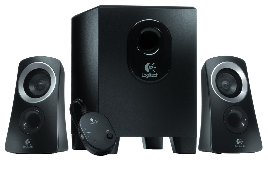 Logitech Z313 2.1 Multimedia Speaker System with Subwoofer, Full Range Audio, 50 Watts Peak Power, Strong Bass, 3.5mm Audio Inputs, UK Plug, PC/PS4/Xbox/TV/Smartphone/Tablet/Music Player - Black
