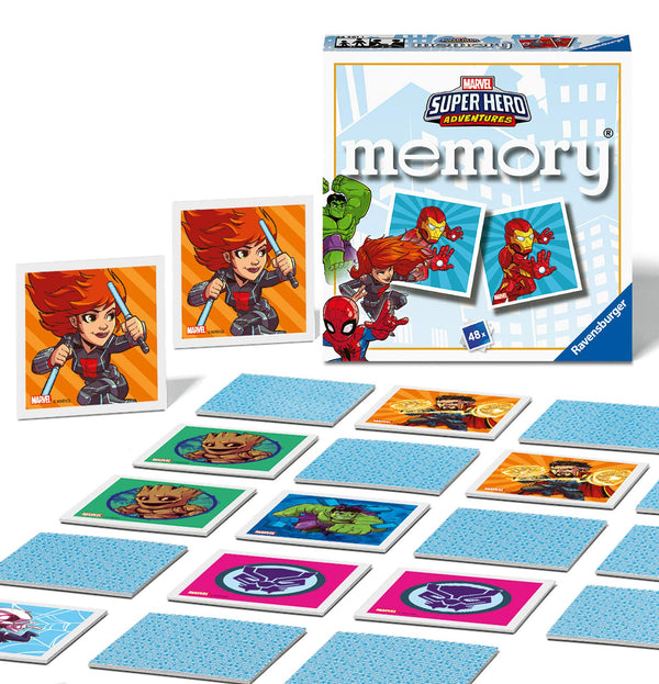 Ravensburger Marvel Avengers Super Hero Adventures Mini Memory Game - Matching Picture Snap Pairs Game For Kids Age 3 Years and Up