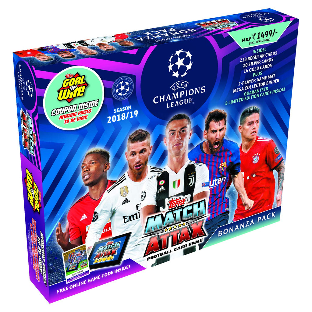 Topps UEFA Champions League TCG Collection Bonanza Pack 2018/19 من Topps ، أزرق