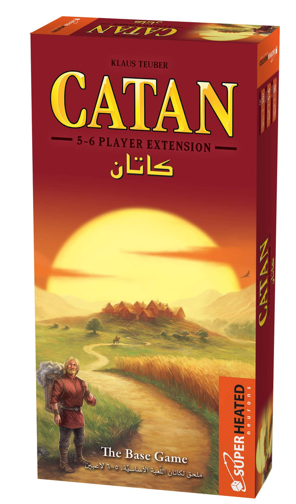 Catan Base Game | Extension 5-6 Players | Official Version | English and Arabic Language | Family Game For Ages 10+ | Board Game - Strategy | Original - Made In Germany