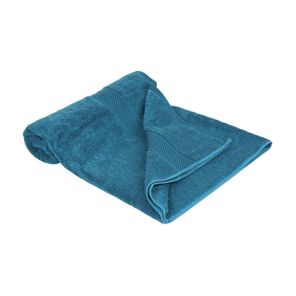 Laura Collection Bath Towel Turquoise Size: W70 x L140cm