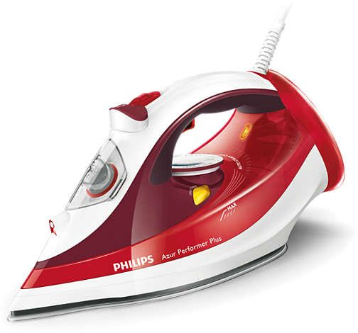 Philips Azur Performer Plus Steam iron, Red, 2400 W, GC4516/46