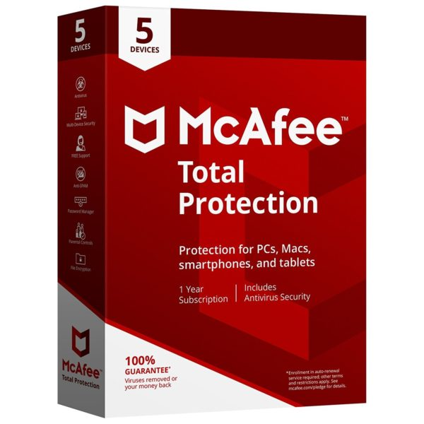 McAfee Total Protection 2018 (1 Year) 5 Devices