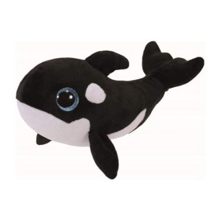 TY Beanie Boos Whale Nona Black/White Regular 7in