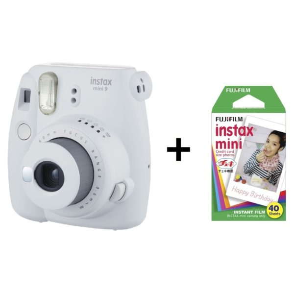FUJI INSTAX MINI 9 CAMERA WHITE+40sheets