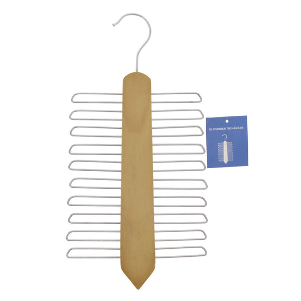 Straight Line Wooden Tie Hanger 1pc