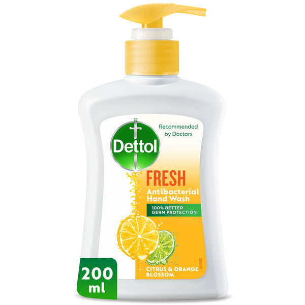 Dettol Fresh Anti-Bacterial Liquid Hand Wash Citrus & Orange Blossom 200ml