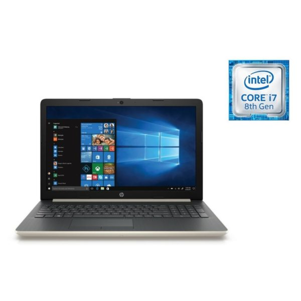 لاب توب اتش بي 15-DA0014NE - Core i7 1.8GHz 16GB 2TB 4GB Win10 15.6inch FHD Pale Gold