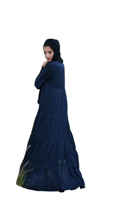 Flaired Abaya With Cuffed Sleeves