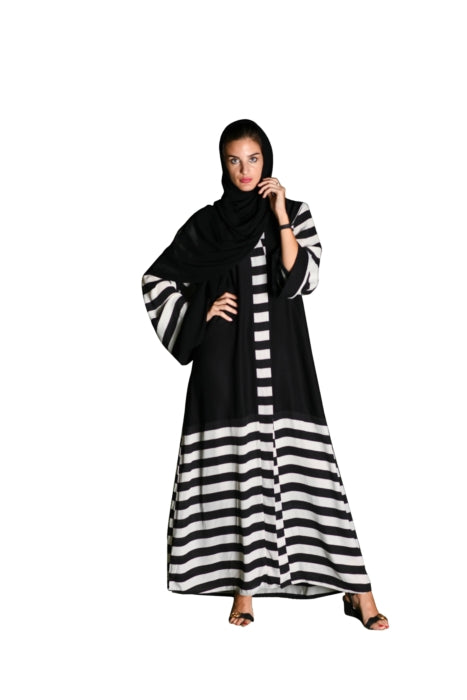 Contemporary Zebra-Printed Abaya