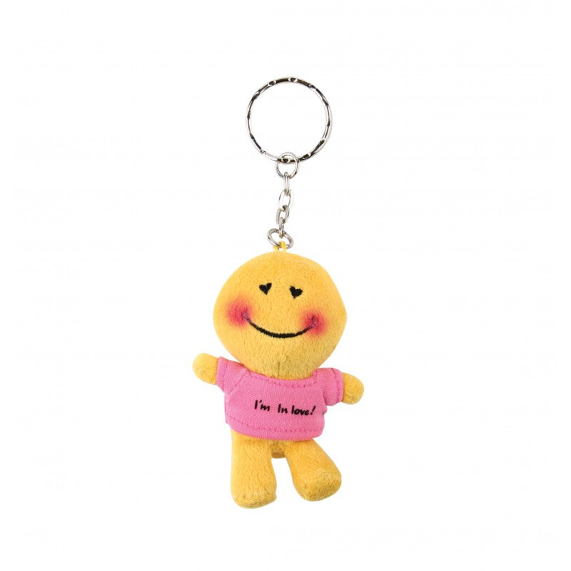 "Smiley ""Mood With Tee Shirt - I'm In Love"" Doll 3"" Key Ring"