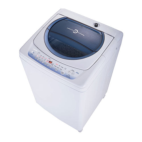 Toshiba Auto Washer, 9.0 Kg, Blue Panel, Metal Body,2 water inlets with pump