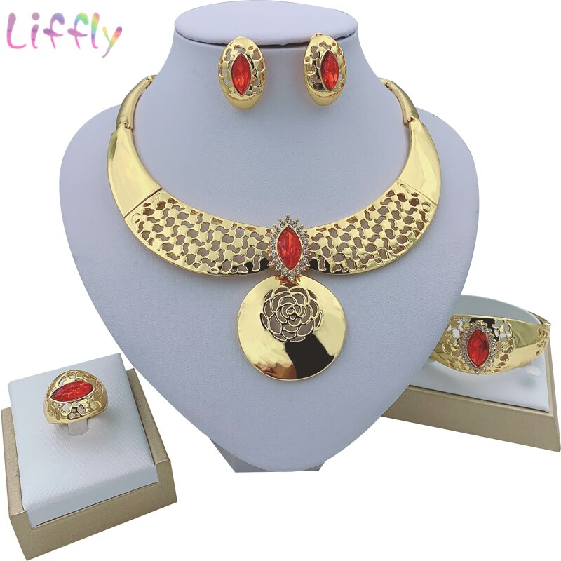 Enamel Butterfly Jewelry Sets Acrylic Pearls Drop Earrings Crystal Rings Rhodium Color Necklace For Women Fashion New Gifts