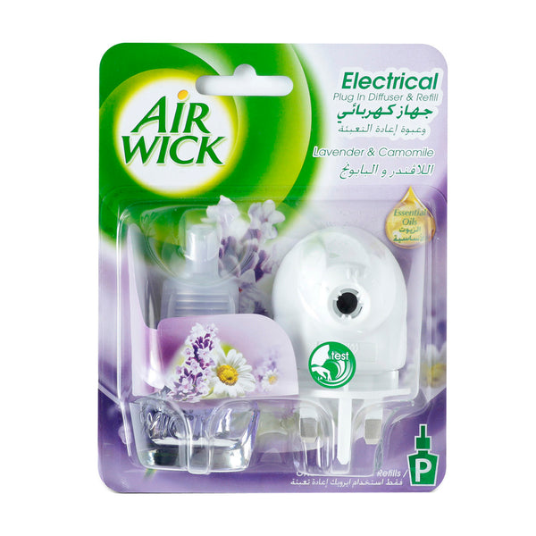 Air Wick Electrical Plug In Diffuser & Refill Lavender & Camomile 19 Ml