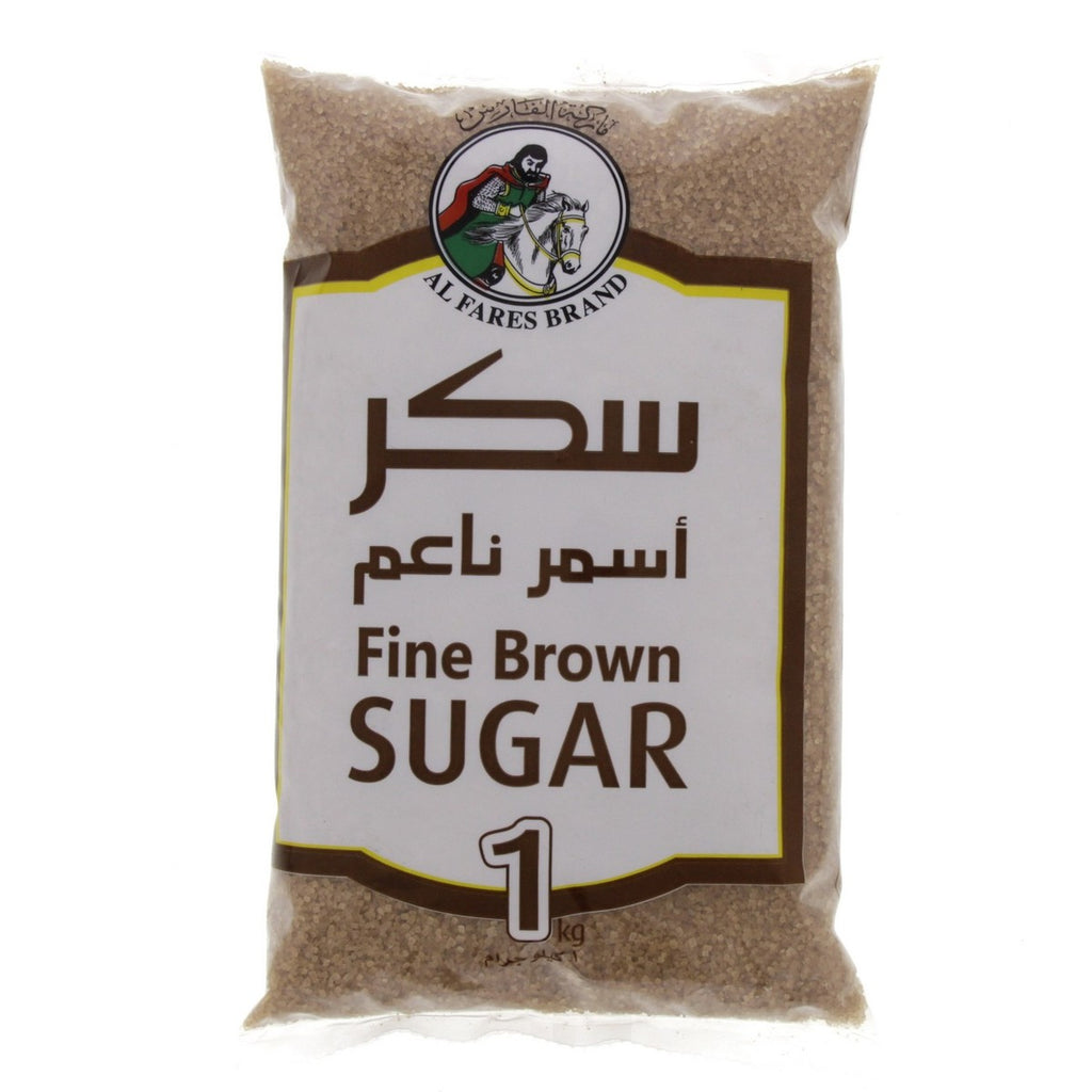 Al Fares Brand Fine Brown Sugar 1kg