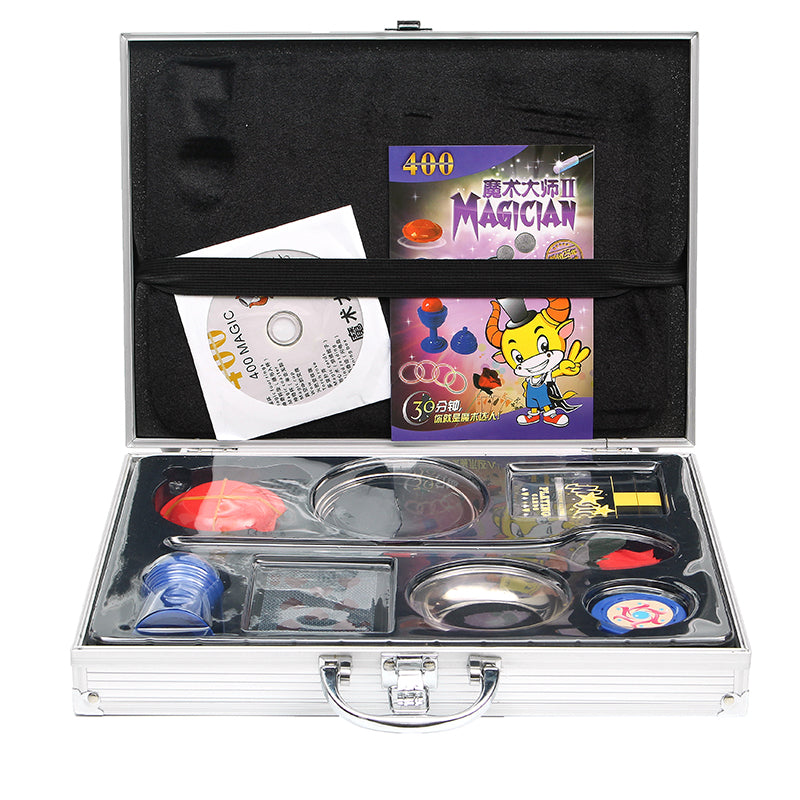 Aluminum Alloy Instruction With CD Magic Box Upscale Children Prop Set