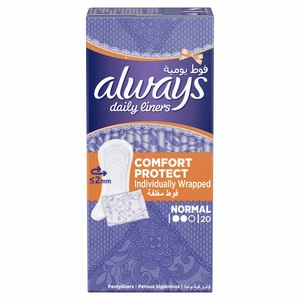 Always Comfort Protect Normal Panty Liners 20pcs