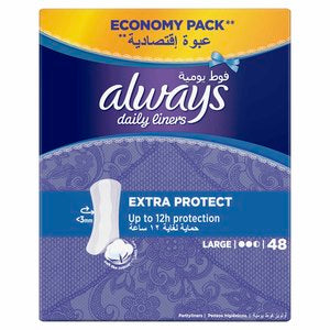 Always Extra Protect Pantyliners Large عدد 48
