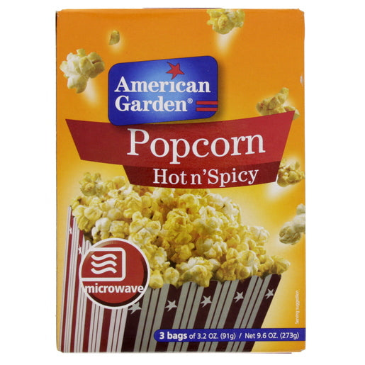 American Garden Hot n'Spicy Microwave Pop Corn 273g