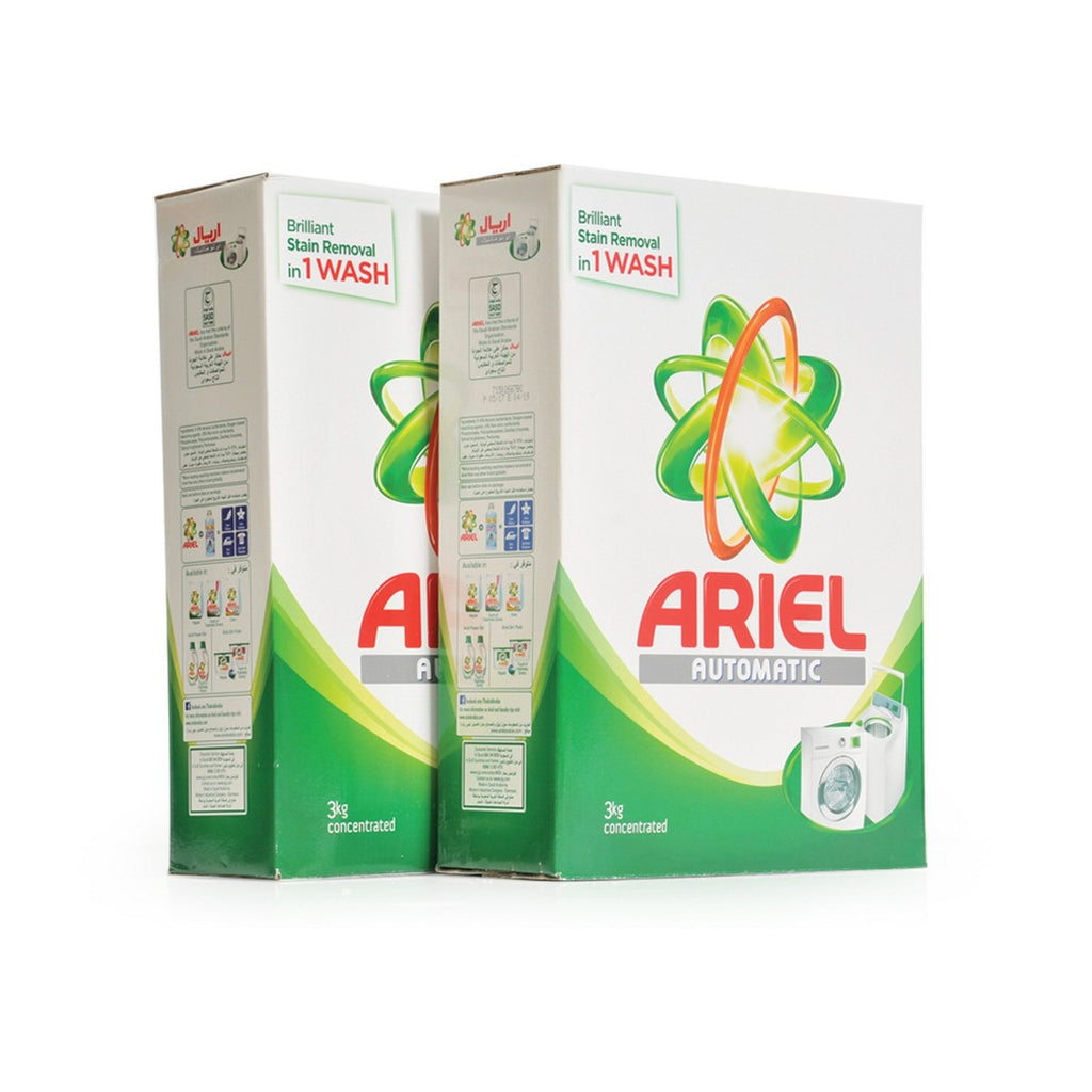 Ariel Washing Powder Concentrated 3kg x 2pcs