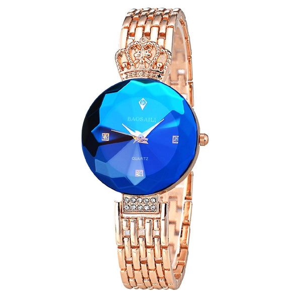BAOSAILI BSL958 Luxury Imperial Crown Ladies Dress Bracelet Watch Fashion Women Quartz Watch