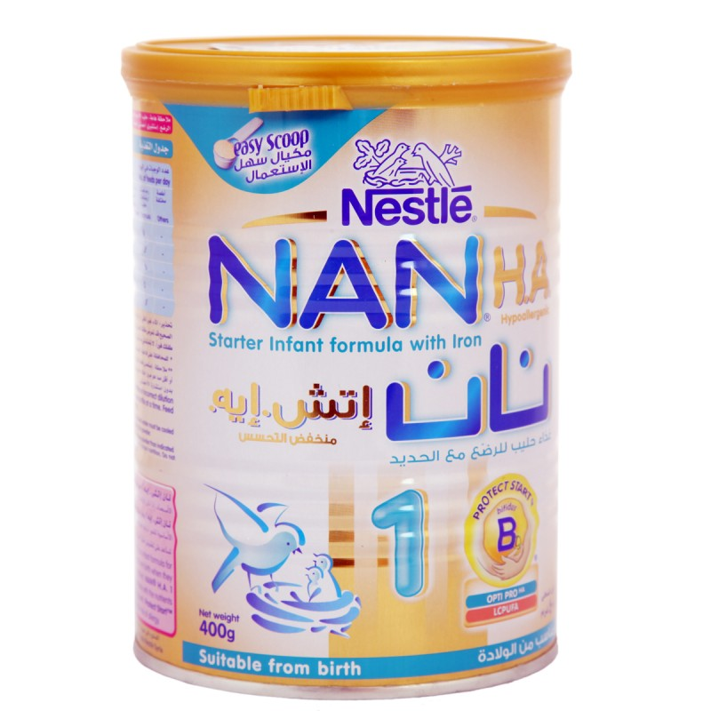 Nestle Nan 1 Hypo Allergic Infant Formula 400g [0+ years]