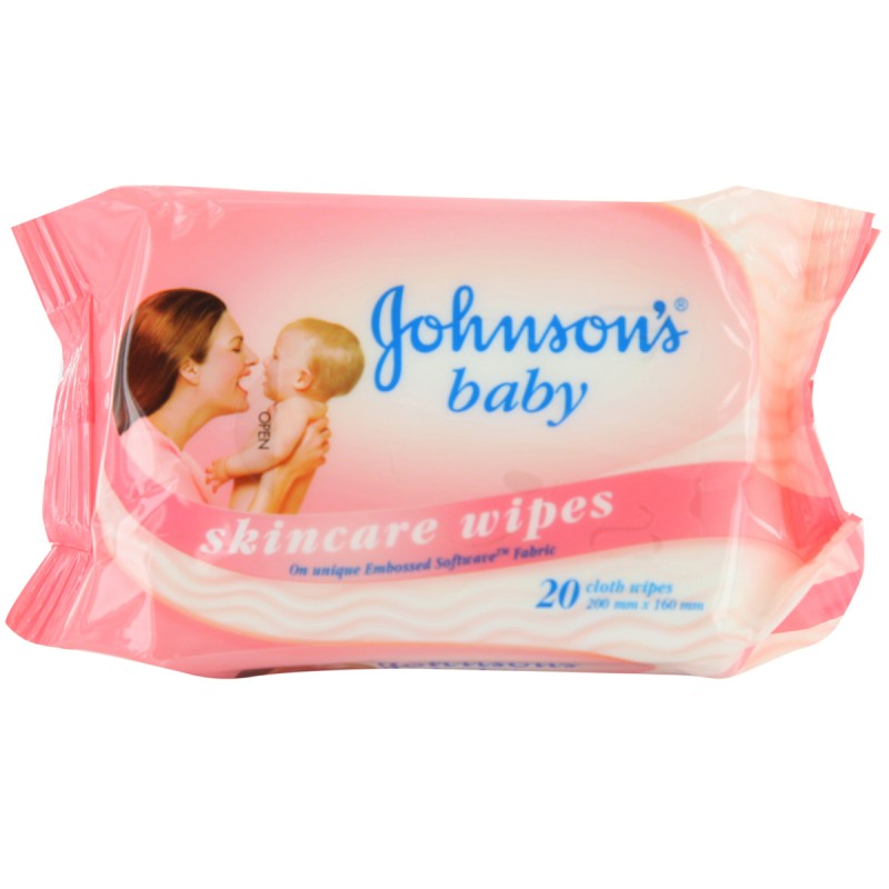 Johnson's Baby Skin Care Wipes 20's