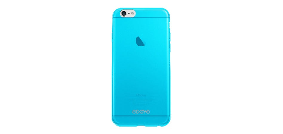 SLIM EDGE ULTRA-THIN PROTECTIVE SNAP CASE FOR IPHONE 6 SKY BLUE