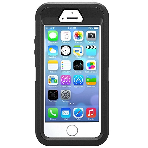 OtterBox Defender Series iPhone 5 / 5s ، أسود