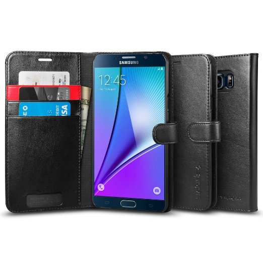 Spigen Galaxy Note 5 Case Wallet S Black SGP11692