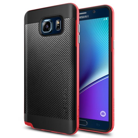 Spigen Galaxy Note 5 Case Neo Hybrid Carbon Dante Red (UV Gloss coated) SGP11691