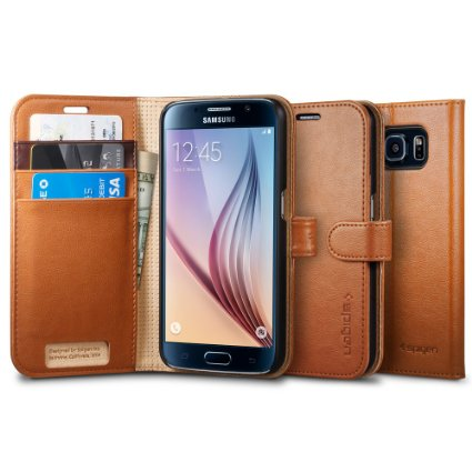 Spigen Galaxy S6 Case Wallet S Brown (ECO Package) SGP11350