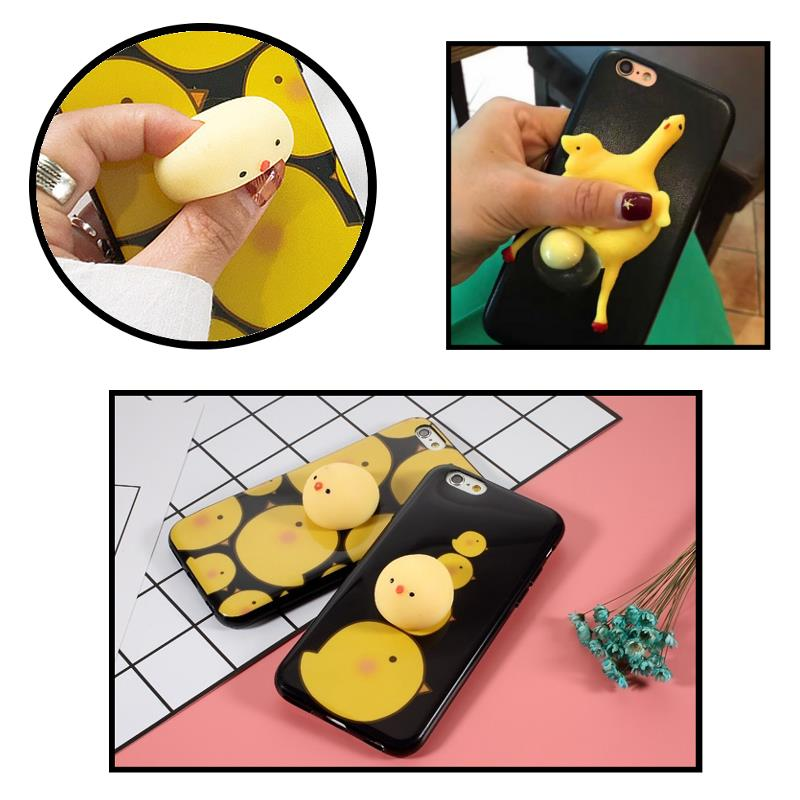 Bakeey Cartoon 3D Squishy Squeeze Lay Egg Yellow Chicken Soft TPU Case for iPhone 6 6s&6Plus 6sPlus