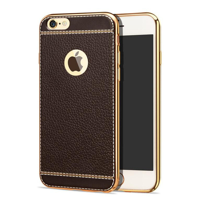 Bakeey Litchi Grain Plating TPU Silicone Ultra Cover Cover For iPhone 6Plus & 6sPlus 5.5 Inch