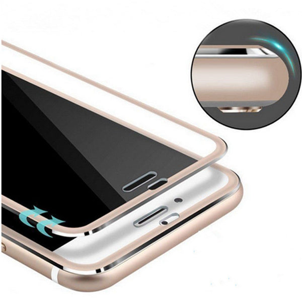 Bakeey Titanium Alloy 3D Arc Edge 9H 0.26m Tempered Glass Screen Protector for iPhone 6 6s