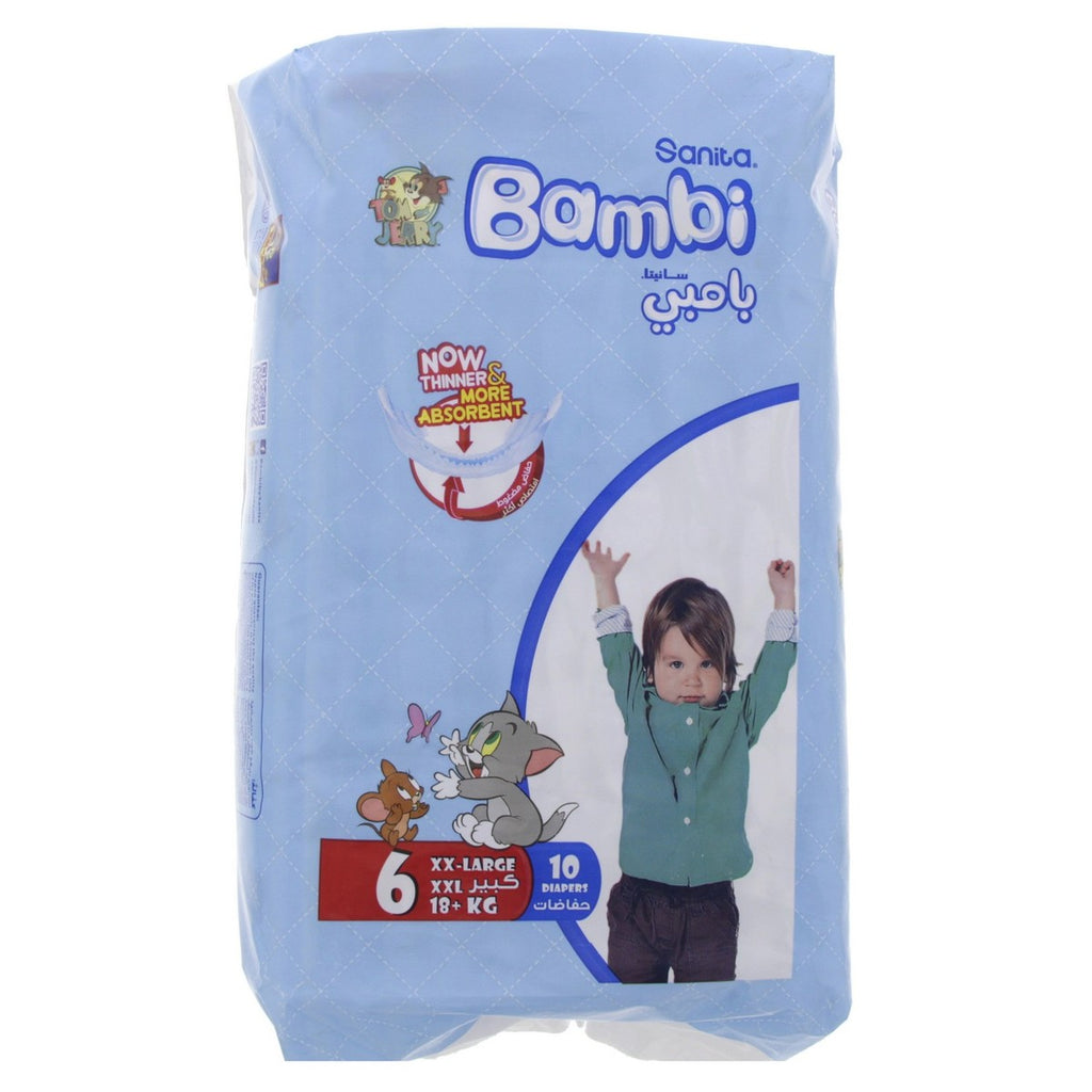 Bambi Diaper, Size 6, XXL, 18+kg, 10 Count