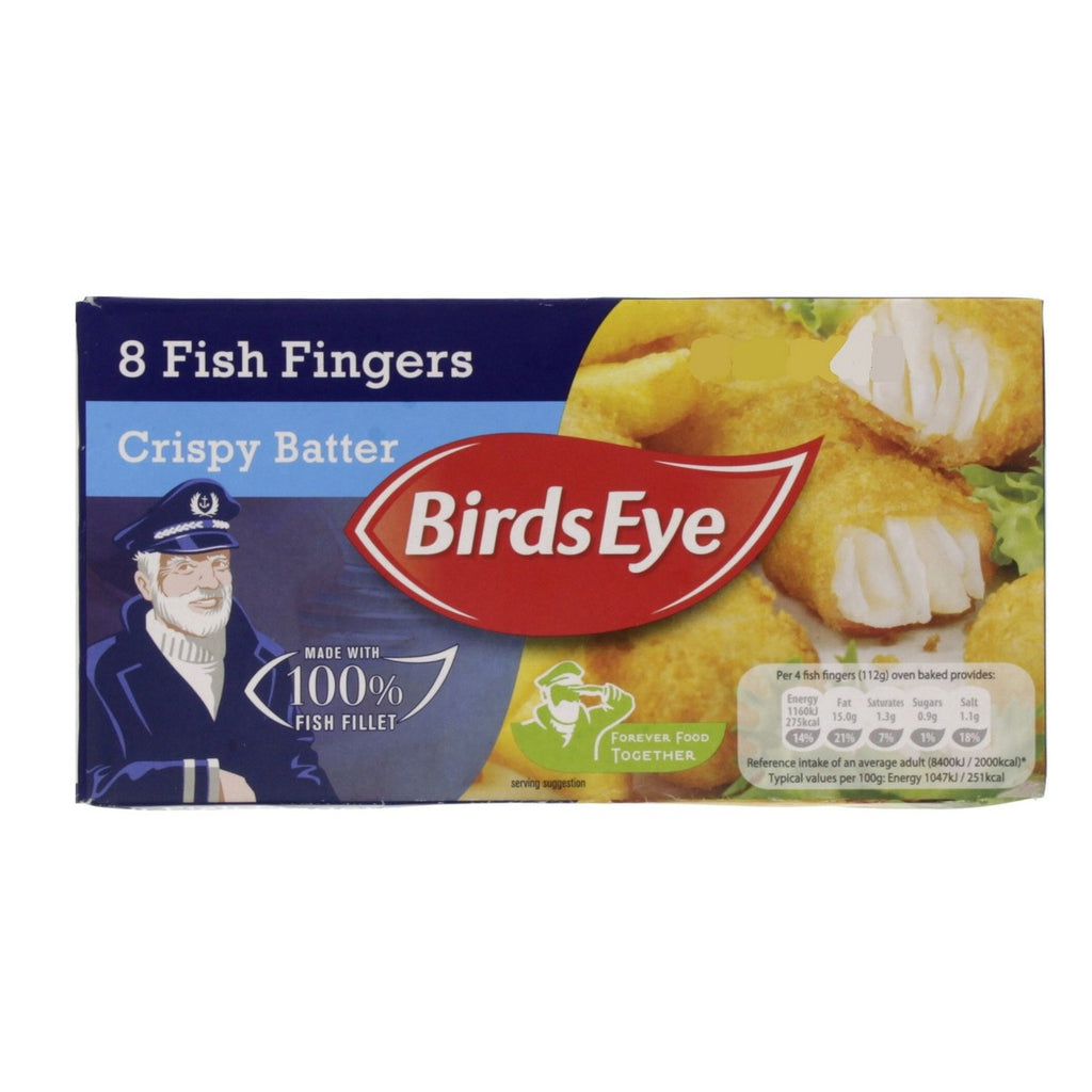 Birds Eye 8 Crispy Batter Fish Fingers 224g