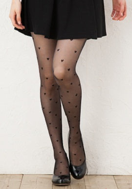 Black Printed Stockings