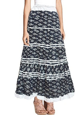 Black White Printed Skirt