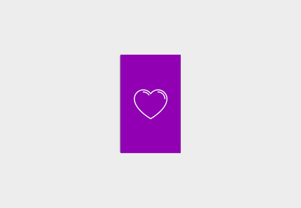 Greeting Cards - Heart purble