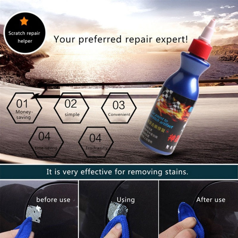 Car Scratch Repair Kit Paint Scratch Repair Agent Polishing Wax Paint Scratch Remover