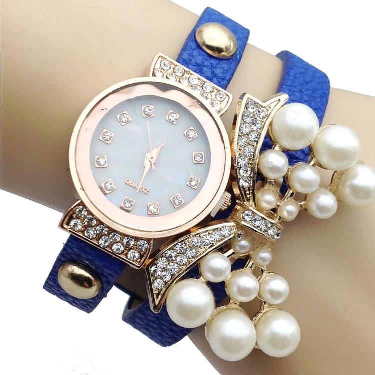 Casual Rhinestone Butterfly Knot Decoration Bracelet Watch