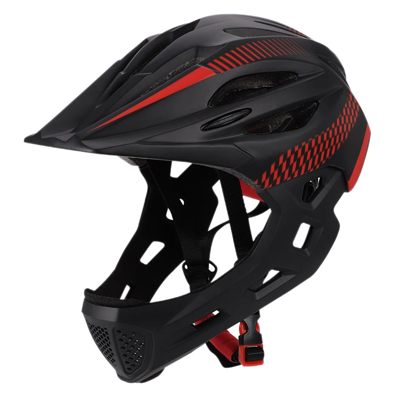 Children Bike Helmet Full Face Off-Road Mtb Bicycle Helmet Balance Sports Kids Full Covered Helmets With/ Rear Light