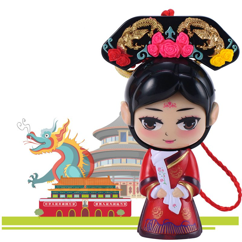 Chinese Forbidden City Queen Face Changing Doll Toys Gifts Car Decoration