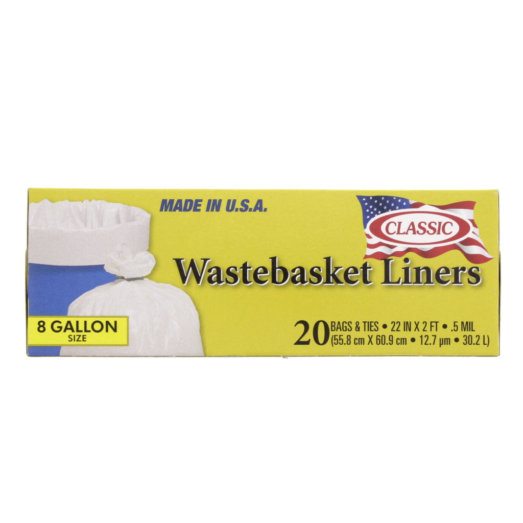 Classic Wastebasket Liners 8Gallon 20pcs